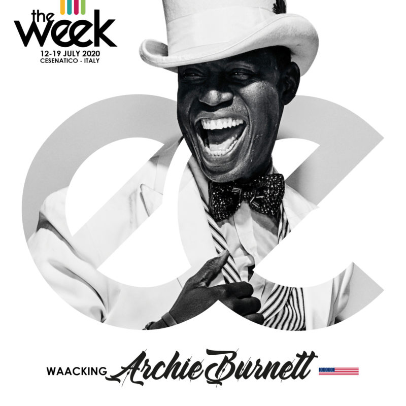 Archie Burnett Waacking The Week The WeeKidz Street Dance Summer Camp Cesenatico Italy Workshop Stage Hip Hop Festival