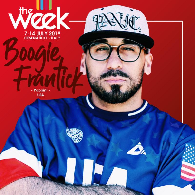 Boogie Frantick The Week 2019 Street Dance Summer Camp Cesenatico Italy Workshop Stage Hip Hop Festival