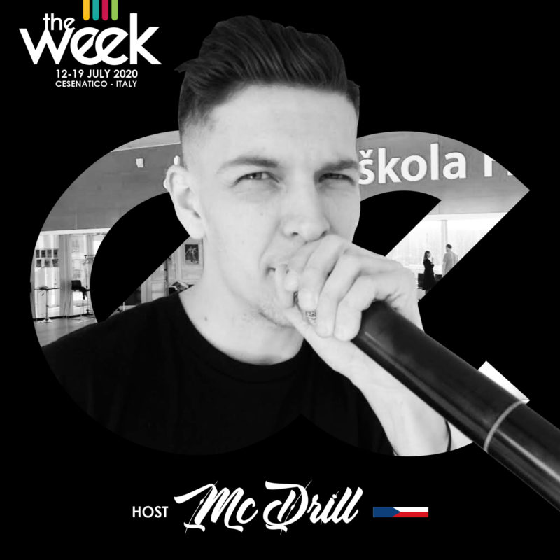 MC Drill host All Kind Of Hustle The Week The WeeKidz Street Dance Summer Camp Cesenatico Italy Workshop Stage Hip Hop Festival