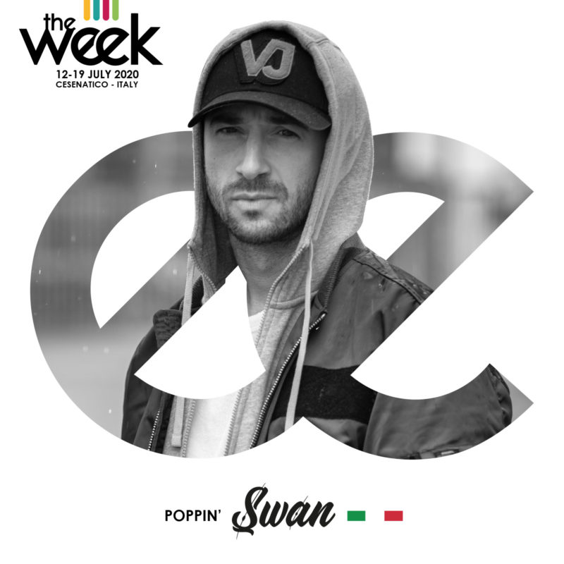 Swan Poppin The Week The WeeKidz Street Dance Summer Camp Cesenatico Italy Workshop Stage Hip Hop Festival