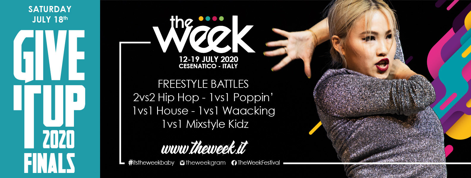 Give It Up The Week The WeeKidz Street Dance Summer Camp Cesenatico Italy Workshop Stage Hip Hop Festival