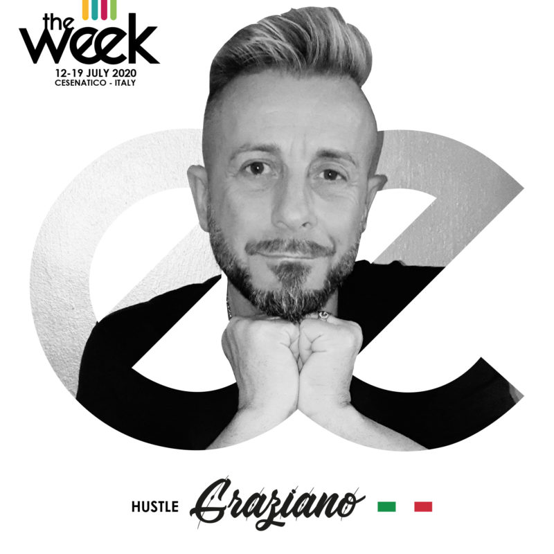 Graziano Boggiani Hustle The Week The WeeKidz Street Dance Summer Camp Cesenatico Italy Workshop Stage Hip Hop Festival
