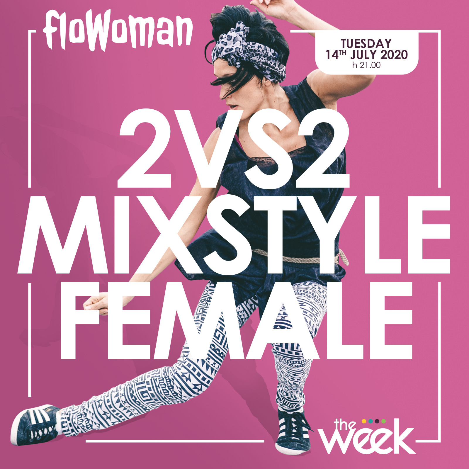 Sésé Flowoman mix style battle female The Week The WeeKidz Street Dance Summer Camp Cesenatico Italy Workshop Stage Hip Hop Festival